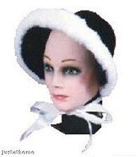 Costumes! Hat! Dickens Christmas Caroler Bonnet w Faux Fur Trim