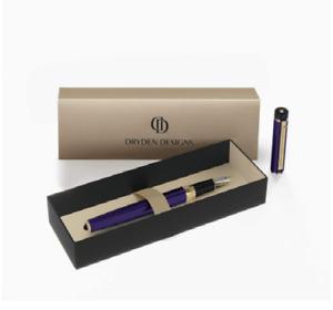 Dryden Designs Stainless Steel Fountain Pen Medium Nib Decadent Purple
