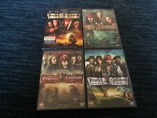 Pirates of the Caribbean 1-4, Dvd, First 4 Movies, Vg-Great Shape