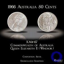 1966 (m) Australia 50 Cents - QEII Silver (BU / UNC)
