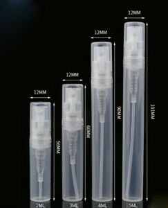 2ml 5ml 10ml Plastic Pump Bottle Atomiser Make Up Liquid Sample Spray Perfume