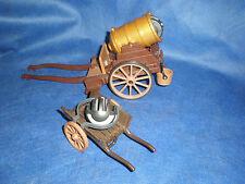 Playmobil 3111 Kanonenwagen Dicke Berta mit Munition Handkarre Karre top