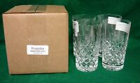 Rogaska  HAMILTON (CUT) Highball Tumblers SET OF FOUR More Available MINT IN BOX