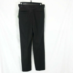 """Midas Golf Fleece Lined Pants Brown 30"""" x U Pleated Front Athletic Wear NWT"""