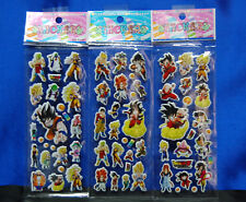 Dragonball Z Stickers 3 Sheets So Cool Set # 3 Goku Vegeta Bulma Bardock
