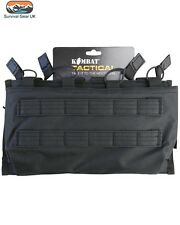 BLACK TACTICAL QUAD SLEEVE MAG POUCH AIRSOFT PAINTBALLING