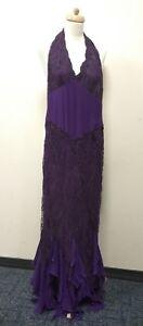 Emanuel Ungaro Gown Lace Embellished Purple Evening Dress Ref 123