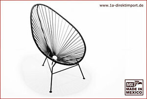 Original Acapulco Chair - schwarz, Designer Sessel für Outdoor und Indoor