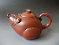 Chinese Purple Clay zisha YIXING Pottery Teapot Mouse shape