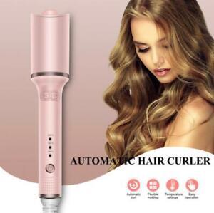 Women Auto Spiral Hair Curler Ceramic Rotate Curling Iron Long-lasting Waver US
