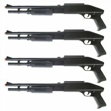 QTY 4: 250 FPS D.O.A. Spring Power PUMP Action Shotgun Airsoft Gun Rifle + BBs