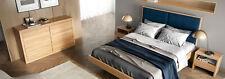 Schlafzimmer Set 4tlg. Set Bett 2x Nachttische Kommode Massiv Holz Garnitur Neu