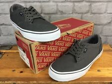 VANS UK 6 EUR 39 WINSTON TENNIS CANVAS GREY WHITE TRAINERS MENS LADIES LG