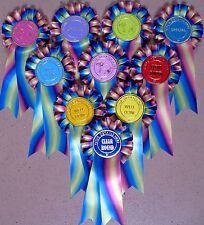 Rosettes New Rainbow ribbon 1 tier printed f.o.c.Dog Horse Party Children