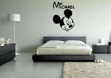 Wall Sticker Mural Decal Vinyl Decor Mickey Mouse Walt Disney Black White