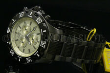 NEW Invicta Specialty/Python Chrono Knurled Champagne Dial Gunmetal S.S Watch