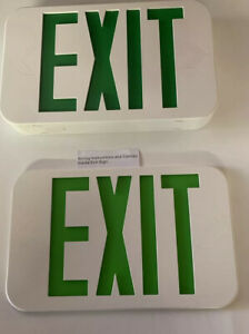 HUBBELL LIGHTING - COMPASS Exit Sign,Green Letter,1 or 2 Faces,LED, CAG