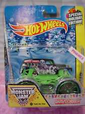 2014 MONSTER JAM Special Holiday☠GRAVE DIGGER☠❊Green Track Ace Tires❊Hot Wheels