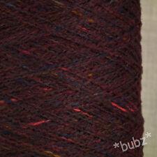 Gorgeous soft cashmere Merino Violet Multi Fleck 250g cône 5 BOULE PURE LAINE FILS