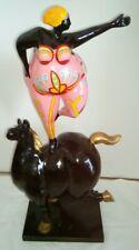 Nana Niki St.Phalle Skulptur Dicke Frau auf Pferd Pop Art