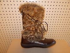 Womens Madden Girl boots - size 7.5 - brown / faux fur- style Ganderr