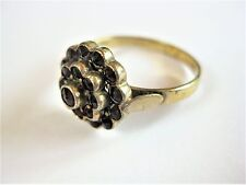Antique Ring Silver 900 Gold Plated with Garnet, 3,28 G