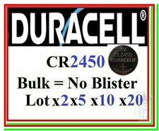 Pila CR2450 DURACELL Industrial Batteria Bottone Litio Lithium scegli lotto