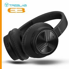 TREBLAB E3 - Active Noise Cancelling Over-Ear Wireless Headphones,Ultra-HD Sound