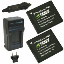 Wasabi Power Battery (2-Pack) and Charger for Canon NB-11L, NB-11LH