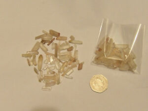 Crystal Shards Small Needle Matchstick Seed Quartz Pieces, Ideal Arts & Crafts