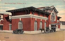 1913 New Central RR Depot Yonkers NY post card Westchester county