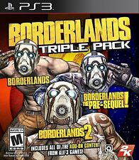Borderlands Triple Pack PS3 Brand New Factory Sealed 1, 2 and pre-sequel
