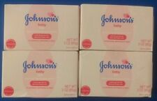 4x Johnson's Baby Bar Soap 3oz Brand New