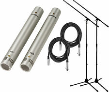 Samson C02 2-Pack Pencil Condenser Microphone Bundle w/FREE Cables and Stan