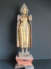 Exceptionnel Antique Bouddha en Bois du CAMBODGE