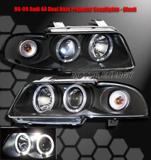 96 97 98 99 AUDI A4 S4 2IN1 TWIN HALO RING LED PROJECTOR FRONT HEADLIGHTS BLACK