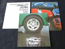 1978 Porsche 911SC & Turbo Sales Brochure 911 Coupe Targa & 930 Turbo Catalog Pk