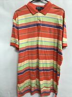 🌴Polo Ralph Lauren Men's L Large Multicolor Short Sleeve Collared Polo Shirt🌴