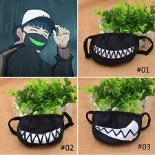 Cartoon Funny Teeth Black Cotton Black Mouth Mask Unisex Random Pattern