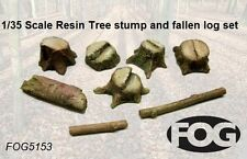 1/35 Scale Resin Tree stump and fallen log set - diorama accessory set