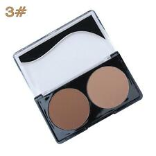 2-Colors Contour Shading Pressed Powder Bronzer Highlighter Makeup Palette 3# FZ