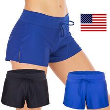 Women Swim Shorts Boardshorts Ladies Bikini Brief Bottoms Beach Pants Bathing US