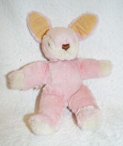Vintage HERMANN Teddy Original PINK BUNNY German West Germany stuffed plush