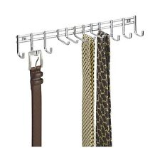 mDesign Closet Organizer Rack for Ties Belts - Wall Mount Chrome Free Shipping