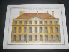 1727 COPPER ENGRAVING HAND COLORED HOUSE OF MALLET GENEVE SWITZERLAND MARIETTE