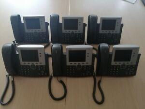 Lot o7 6 x Cisco IP Phone 7945 VoIP IP Telephone Desk Phone - Model : CP-7945G