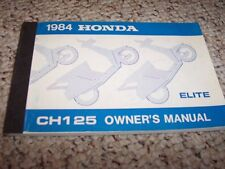 1984 Honda CH125 ELITE SCOOTER Factory User Guide Owner Manual
