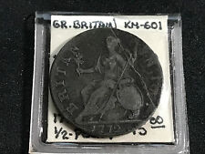 "1772 GREAT BRITAIN 1/2 PENNY KM-601 ""ERROR"" PEELED PLANCHET"" FINE"