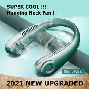 Portable Mini Fan Neckband Lazy Neck Hanging USB Rechargeable Air Cooler Fans UK