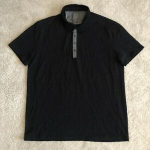 Icebreaker Merino Wool Knit Snap Button Up Polo Shirt Large